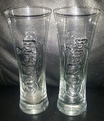 Pair Of Rare Collectable Carlsberg 330Ml Beer Glasses In Great Used Condition