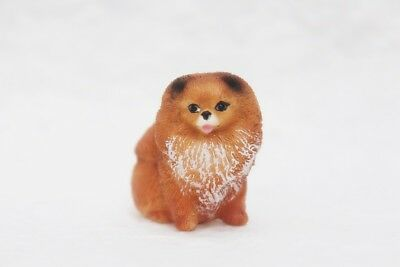 Figurine Animal Pomeranian Dog Hand Painted Miniature Resin Collectibles Gift