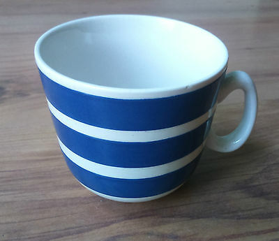Vintage 1950s Swinnertons Ironstone Tea Cup Blue White Stripe Somerset Blue VGC