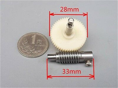 Import Worm Reduction gear train Metal and plastic Gearset for DIY production
