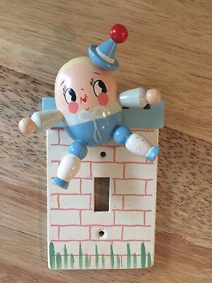 IRMI Humpty Dumpty Light Switch Cover Painted Wood VTG