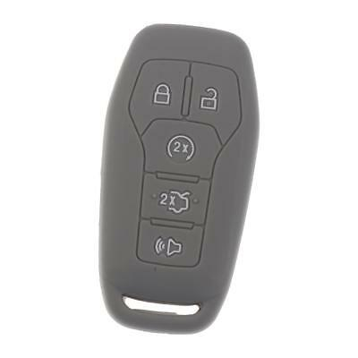 Keyless Entry Remote Key Case Cover Replacement For Ford Edge Explorer Gray