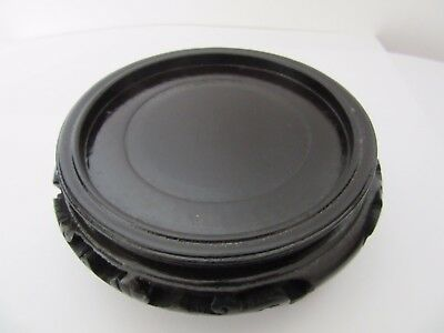 """Chinese Wood Stand Black Color For A Vase/pot With  Base Diameter Of 3 1/4"""""""