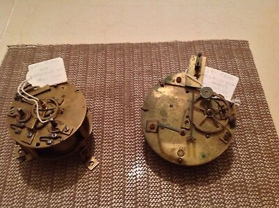 2Japy Freres Clock Movements For Renovation Or Spares.