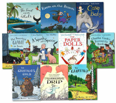 Julia Donaldson 10 Book Set in a Bag - The Gruffalo, Smartest Giant in town etc.