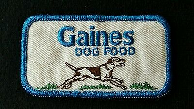 Gaines Dog Food Advertising Embroidered Sew-On Patch Rare
