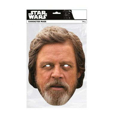 Luke Skywalker Star Wars The Last Jedi Single 2D Card Party Face Mask