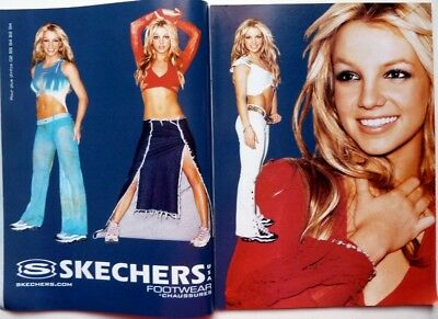BRITNEY SPEARS => 2 pages 2001 FRENCH CLIPPING !!! EUR 4