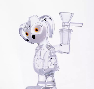 Glass dog design water bong / dab rig - Hand made water bong - (tobacco use)