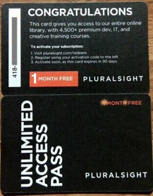 Pluralsight 1 Month (ONE month) PLUS Membership