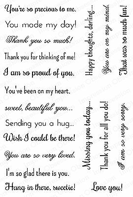 Claritystamp Line Sentiments 2 A5 Unmounted Clear Stamp Set STA-WO-10227-A5