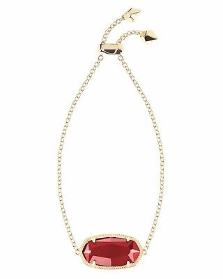Kendra Scott Daisy Chain Bracelet in Dark Red and Gold Plated