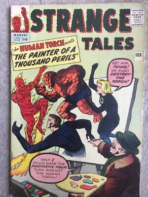 Strange Tales # 108  Human Torch  The Thing  The FF !  scarce book ! Very Fine