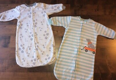 Two Carter's Sleepsacks: 0-6 Months• Fleece, Baby Boy Sleepwear