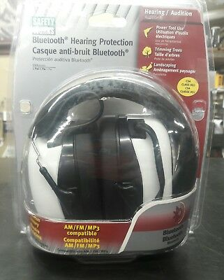 Safety Works Bluetooth Hearing Protection ~ Noise Canceling ~ AM/FM Radio