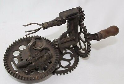 Vintage Antique Late 1800's Sinclair Scott Co. Cast Iron Apple Peeler Baltimore