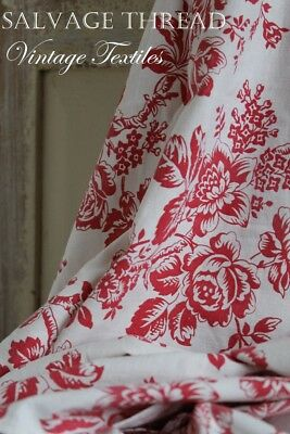 Toile De Jouy Red French Vintage Floral Fabric Cotton Nordic Christmas Stocking