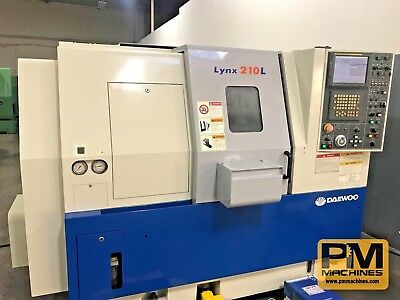 2003 DAEWOO LYNX 210LC presetter, parts catcher, collet nose, chuck, Fanuc 21iTB