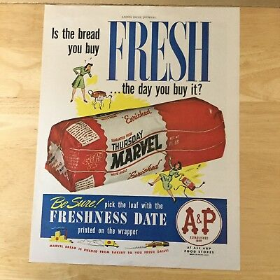 Ad Marvel Bread A&P Tea Co. 1943