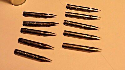 Lot of 10 Vintage Ivison Phinney & Co. Spencerian No. 1  Pen Nibs