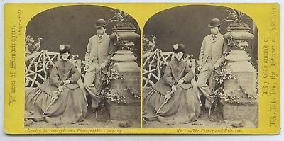 C1865 Stereograph Prince & Princess Of Wales Lond. Stereoscopic. & Ph. Co. X57