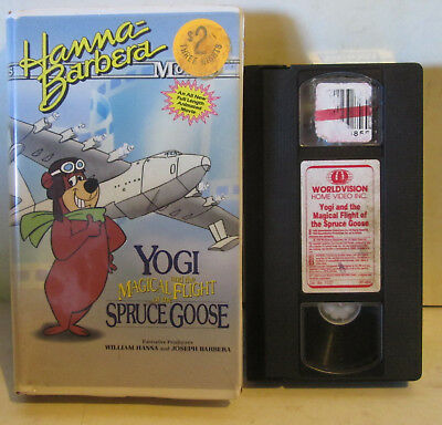 Yogi Magical Flight of the Spruce Goose Clamshell VHS Hanna Barbera Tested Works