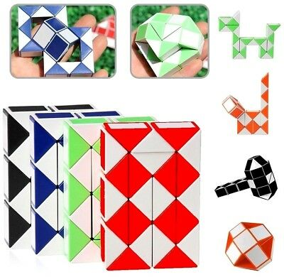 Mini Snake Puzzle Magic Cube Twist Fidget Toy Boy Girl Birthday Party Bag Filler