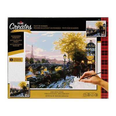PLAID Paint by Number Kit EIFFEL TOWER No Blending Thomas Kinkade