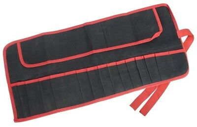15 Pocket Water Resistant Tool Roll Spanner Tool Storage Pouch - Amtech