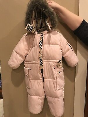 Burberry Baby Girl Pink Snowsuit NWT -12 Mo/ 80 CM