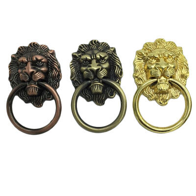 Vintage Lion Head Furniture Door Pull Handle Knob Door Cabinets Drawers Antique
