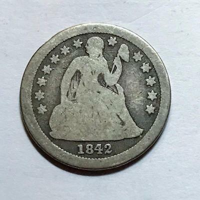 1842-O  Seated Liberty Dime   Nice Choice Good  Better Date #7338
