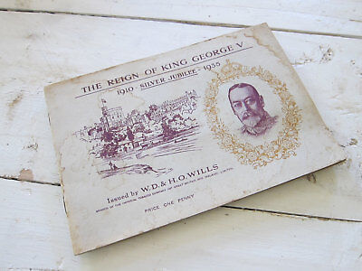 Vintage The Reign of King George V Booklet Issued by WD HO Wills Royalty Booklet