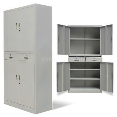 Office File Filing Document Cabinet 4 Doors 2 Compartments Storage Unit Z2Y2