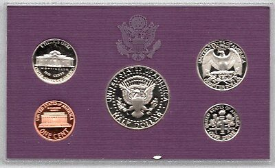 1993 Usa 5 Coin Mint Proof Set In Original Sealed Case & Cardboard Wallet
