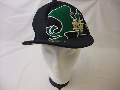New Era 59FIFTY Notre Dame Fighting Irish Fitted Cap Hat - Size: 7 1/4