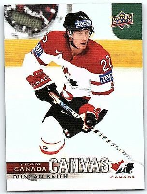 2017-18 UD CANADIAN TIRE TEAM CANADA CANVAS DUNCAN KEITH Insert Card # TCC-18