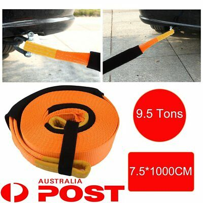 10M 9.5T Tow Cable Towing Pull Rope Snatch Strap Heavy Duty Car Road Recovery AU
