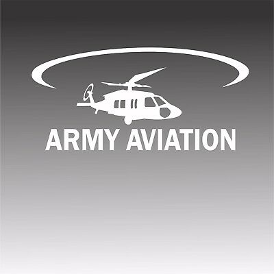Uh 60 blackhawk helicopter decal uh60 swoosh blade army aviation vinyl sticker