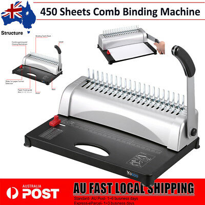 Professional 21 Hole Up to 450 Sheets Paper Punch Binder Comb Binding Machine