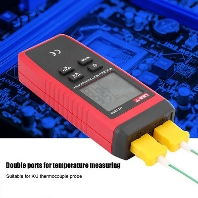 -50℃~1300℃ 1/2-Channel Digital LCD K/J Type Thermocouple Thermometer Sensor Z2