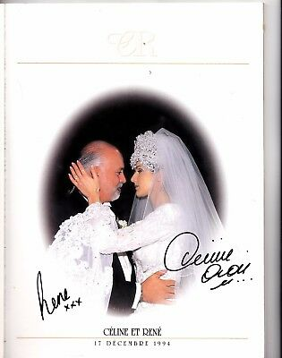 Celine Dion And Rene Wedding Album Signed By Both Celine And Rene Angelil 98 Pag