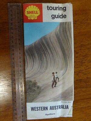 1 x OLD RETRO SHELL TOURING GUIDE WESTERN AUSTRALIA TRAVEL GUIDE / MAP