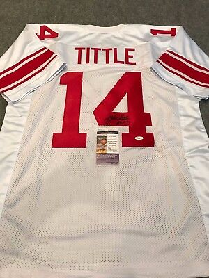 buy popular 0f444 830f5 FRAMED Y.A. TITTLE Autographed Signed Inscribed New York ...