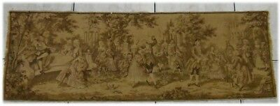 Vintage French Beautiful Party,Dance and Singing Scene Tapestry