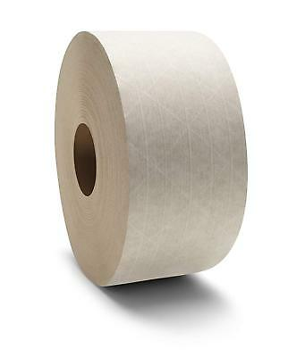 """30 Rolls Central 3""""x600' Non Reinforced Gummed Kraft Paper Tape Water Activated"""