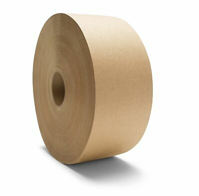 """240 Rolls Central 3"""" 600' Non Reinforced Gummed Kraft Paper Tape Water Activated"""
