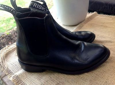 Frisky Horse Riding Boots Shoes Pony Club farm paddock Womens Girls 5.5 Leather