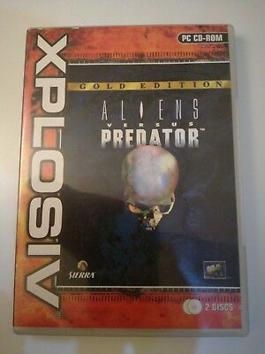 Aliens Versus Vs Predator 1 Avp Gold Edition Pc Cd-Rom - V.g.c+
