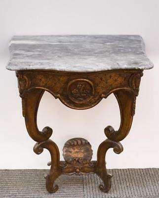 Rococo Console Table, Marble-Top & Gilt Gesso Lot 24